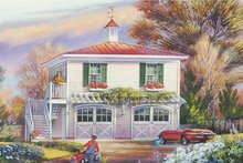 Home Plan - Traditional Exterior - Front Elevation Plan #137-368