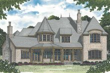 Home Plan - European Exterior - Rear Elevation Plan #453-599