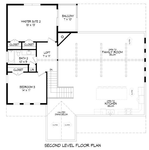 House Plan Design - Farmhouse Floor Plan - Upper Floor Plan #932-394
