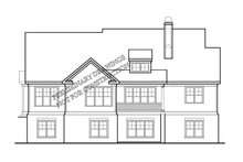 Country Exterior - Rear Elevation Plan #927-402