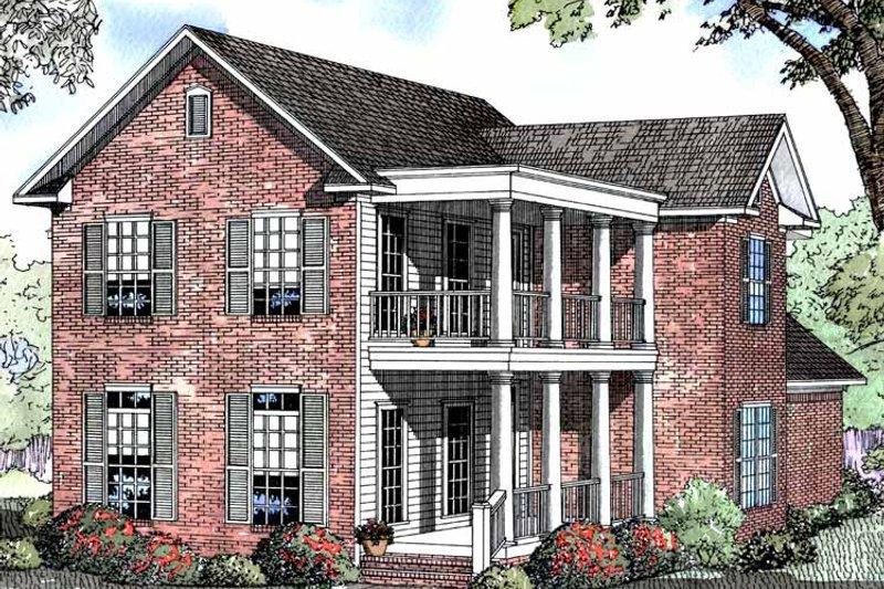 Classical Exterior - Front Elevation Plan #17-3007 - Houseplans.com