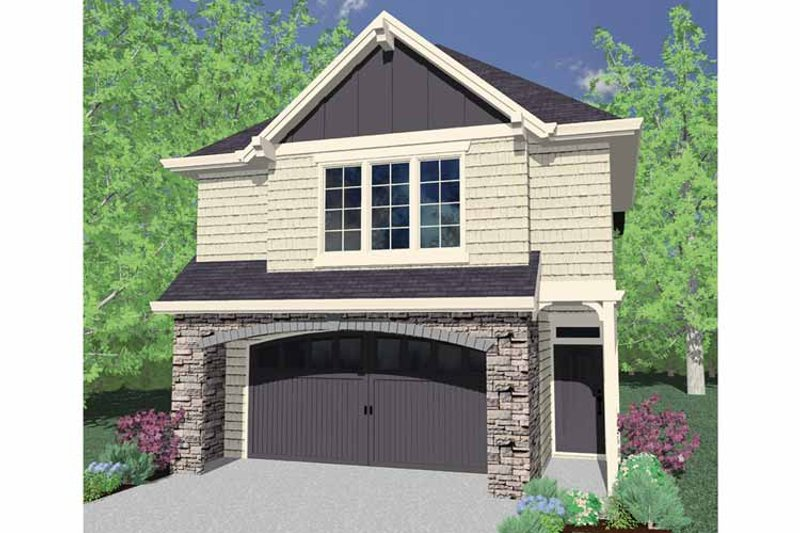 Craftsman Exterior - Front Elevation Plan #509-190 - Houseplans.com