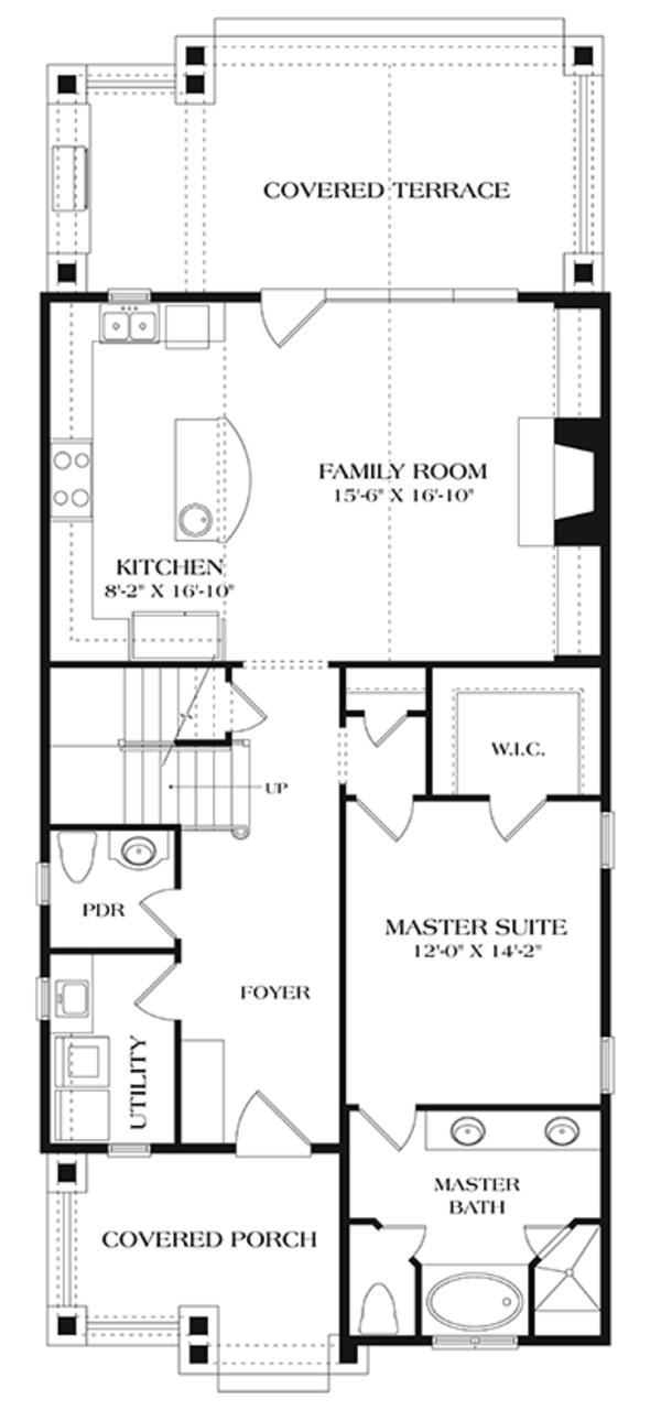 Craftsman Floor Plan - Main Floor Plan Plan #453-634