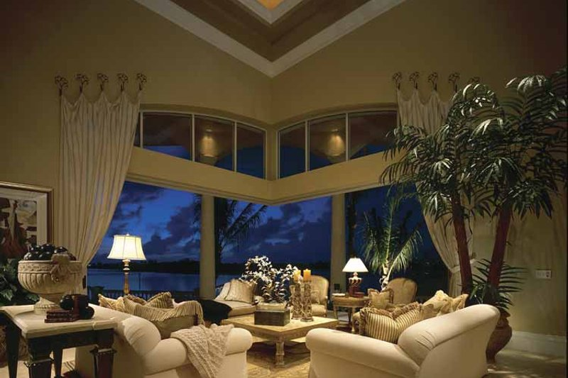 Mediterranean Interior - Family Room Plan #930-412 - Houseplans.com