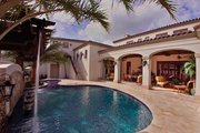 Mediterranean Style House Plan - 6 Beds 5 Baths 6493 Sq/Ft Plan #1058-1 Exterior - Rear Elevation