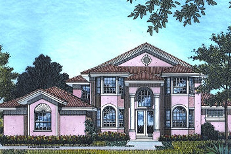 Classical Style House Plan - 4 Beds 3.5 Baths 2734 Sq/Ft Plan #417-325 Exterior - Front Elevation