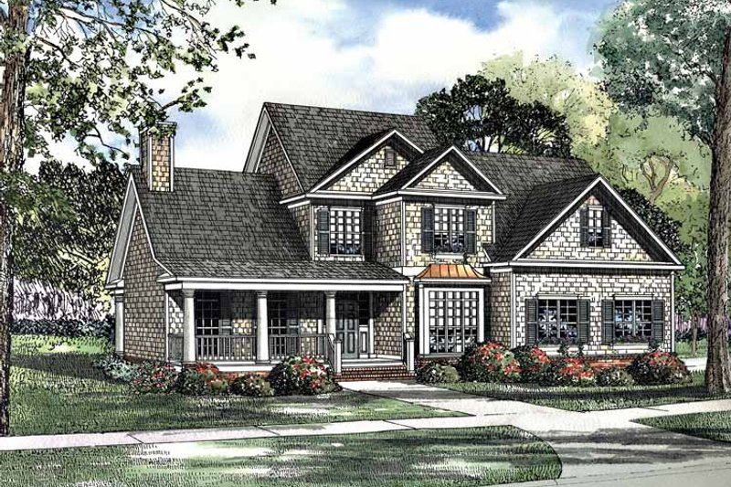 Dream House Plan - Country Exterior - Front Elevation Plan #17-3116