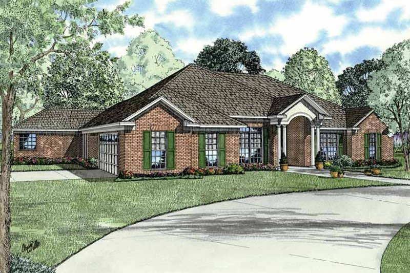 Dream House Plan - Classical Exterior - Front Elevation Plan #17-2770