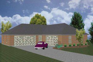 Dream House Plan - Traditional Exterior - Front Elevation Plan #84-718