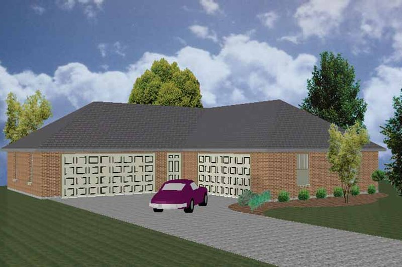 Traditional Exterior - Front Elevation Plan #84-718 - Houseplans.com