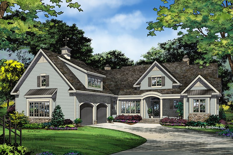 Architectural House Design - Country Exterior - Front Elevation Plan #929-1026