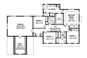Colonial Style House Plan - 4 Beds 4 Baths 2952 Sq/Ft Plan #1010-204 Floor Plan - Upper Floor Plan
