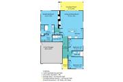 Ranch Style House Plan - 3 Beds 2 Baths 1633 Sq/Ft Plan #489-2 Floor Plan - Main Floor Plan