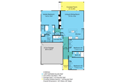 Ranch Style House Plan - 3 Beds 2 Baths 1633 Sq/Ft Plan #489-2 Floor Plan - Main Floor