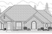 European Style House Plan - 2 Beds 3 Baths 2228 Sq/Ft Plan #65-408 Exterior - Front Elevation