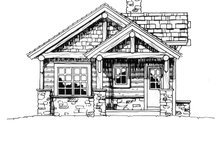 Cabin Exterior - Front Elevation Plan #942-14