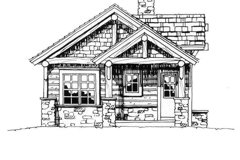 Cabin Exterior - Front Elevation Plan #942-14 - Houseplans.com