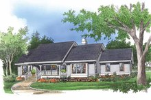 Country Exterior - Front Elevation Plan #929-132