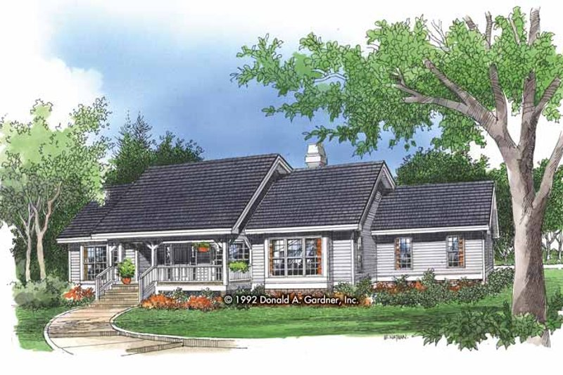 Home Plan - Country Exterior - Front Elevation Plan #929-132