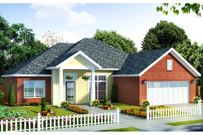 Traditional Exterior - Front Elevation Plan #513-2135 - Houseplans.com