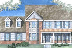 Country Exterior - Front Elevation Plan #1029-15