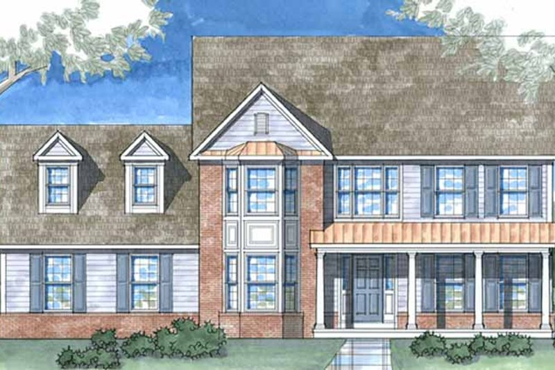 Country Exterior - Front Elevation Plan #1029-15 - Houseplans.com