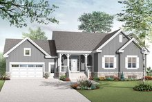 Home Plan - Country Exterior - Front Elevation Plan #23-2516