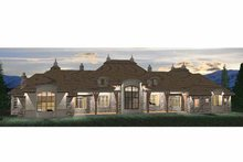 Country Exterior - Rear Elevation Plan #937-26