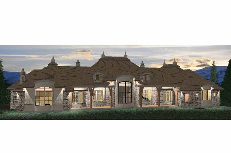 Country Exterior - Rear Elevation Plan #937-26 - Houseplans.com