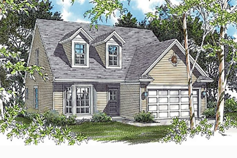 Craftsman Exterior - Front Elevation Plan #48-536