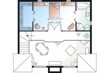 Contemporary Floor Plan - Upper Floor Plan Plan #23-755