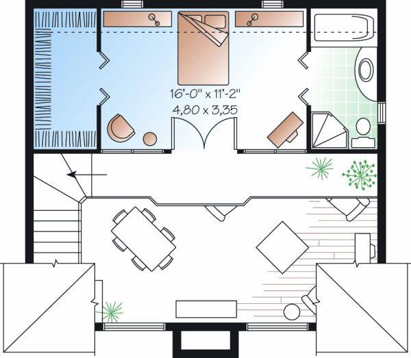 Home Plan - Contemporary Floor Plan - Upper Floor Plan #23-755