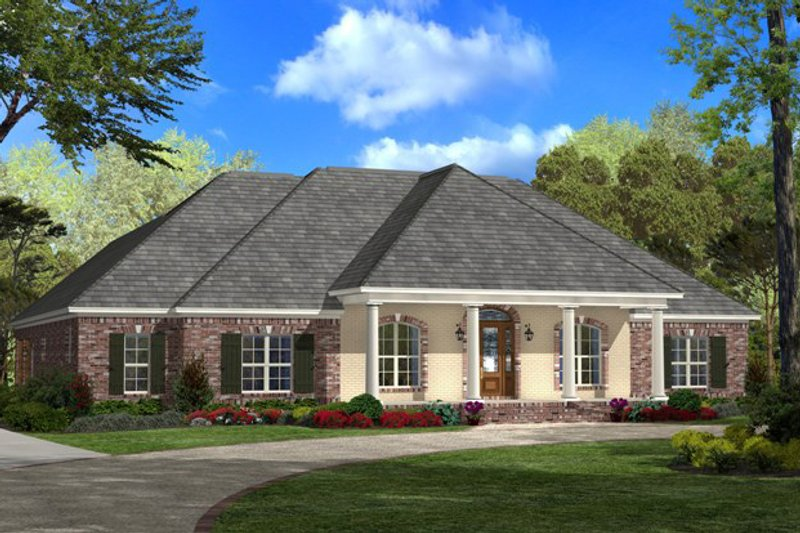 Southern Exterior - Front Elevation Plan #430-37 - Houseplans.com