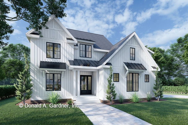 Dream House Plan - Farmhouse Exterior - Front Elevation Plan #929-1064