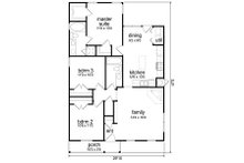 Cottage Floor Plan - Main Floor Plan Plan #84-539