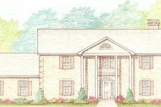 Colonial Exterior - Front Elevation Plan #421-143