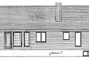 Ranch Style House Plan - 3 Beds 2 Baths 1312 Sq/Ft Plan #409-112 Exterior - Rear Elevation