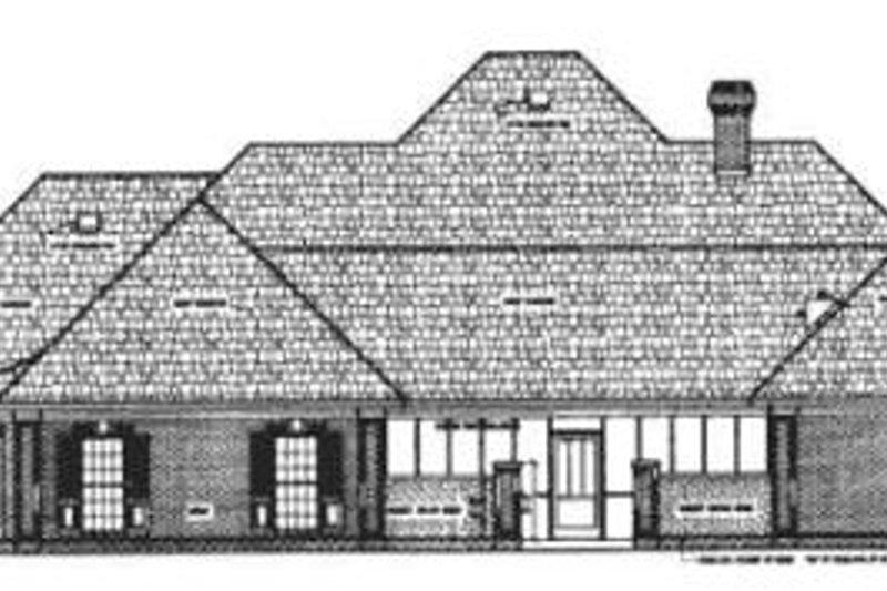 Traditional Exterior - Rear Elevation Plan #45-152 - Houseplans.com