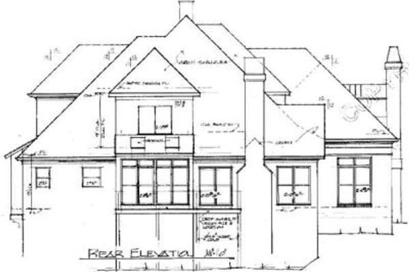 European Exterior - Rear Elevation Plan #41-166 - Houseplans.com