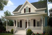 Cottage Style House Plan - 2 Beds 2.5 Baths 1201 Sq/Ft Plan #472-6 Exterior - Front Elevation