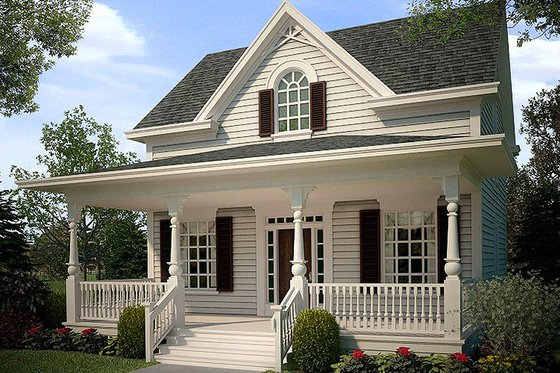 Cottage style home, bungalow style, elevation