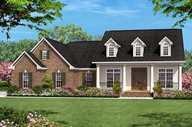 Colonial Exterior - Front Elevation Plan #430-23