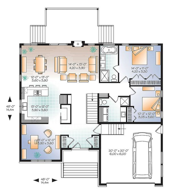 Ranch Floor Plan - Main Floor Plan Plan #23-2623