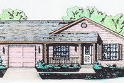 Traditional Style House Plan - 3 Beds 2 Baths 1120 Sq/Ft Plan #421-108 Exterior - Front Elevation