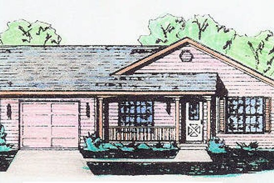 Traditional Exterior - Front Elevation Plan #421-108