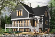 European Style House Plan - 3 Beds 2 Baths 1792 Sq/Ft Plan #23-628 Exterior - Front Elevation