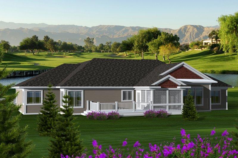 Ranch Exterior - Rear Elevation Plan #70-1118 - Houseplans.com