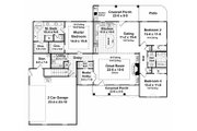 Southern Style House Plan - 3 Beds 2.5 Baths 2000 Sq/Ft Plan #21-218 Floor Plan - Main Floor Plan