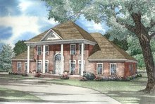 House Plan Design - Southern Exterior - Front Elevation Plan #17-2007