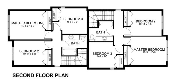 Upper Level Floor plan - Modern Duplex